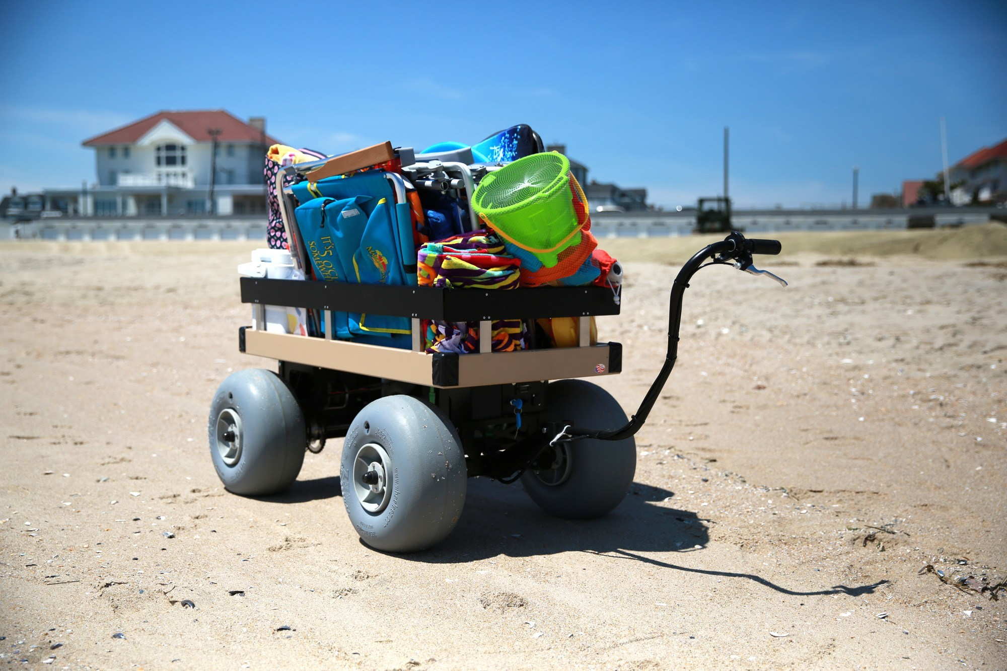 Electric Beach Cart on the Beach - Electric Beach Cart